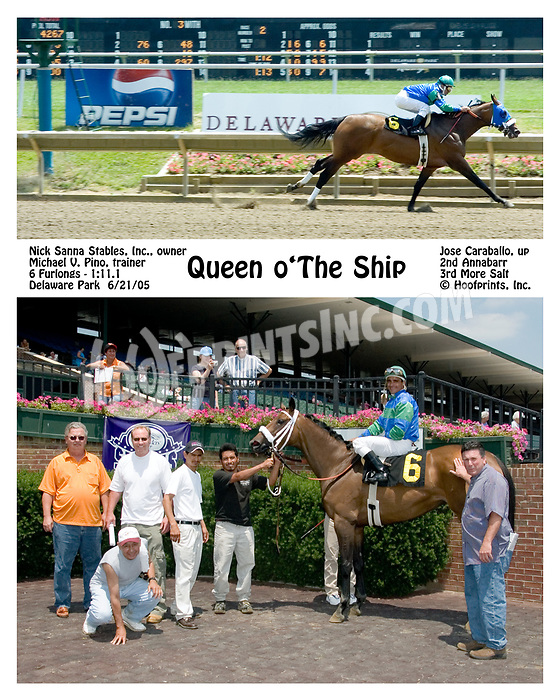 Queen o'The Ship winning at Delaware Park on 6/21/05