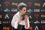 Luisa Gavasa poses with Best Best Supporting Actress Goya award during 30th Goya Awards ceremony in Madrid, Spain. February 06, 2016. (ALTERPHOTOS/Victor Blanco)