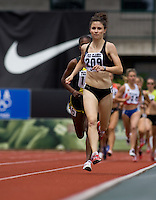 EUGENE, OR--Canada's Amber McGowan races in the women's 1500m at the Steve Prefontaine Classic, Hayward Field, Eugene, OR. SUNDAY, JUNE 10, 2007. PHOTO © 2007 DON FERIA