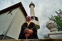 SREBRENICA / REPUBLIKA SRPSKA 2010.<br /> Damir Pestalic, Imam della Moschea di Srebrenica.<br /> Damir Pestalic, the new Imam of Srebrenica Mosque rebuilt with Saudi Arabian funds in the post-war period.<br /> Photo Livio Senigalliesi