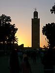 Koutoubia minaret in Marrakesh.