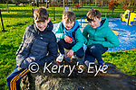 Cian, Conor and Odhrán Croghan enjoying the town park playground in Tralee on New Years Eve.