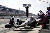 Verizon IndyCar Series<br /> ABC Supply 500<br /> Pocono Raceway, Long Pond, PA USA<br /> Sunday 20 August 2017<br /> Ed Jones, Dale Coyne Racing Honda, pit stop<br /> World Copyright: Michael L. Levitt<br /> LAT Images