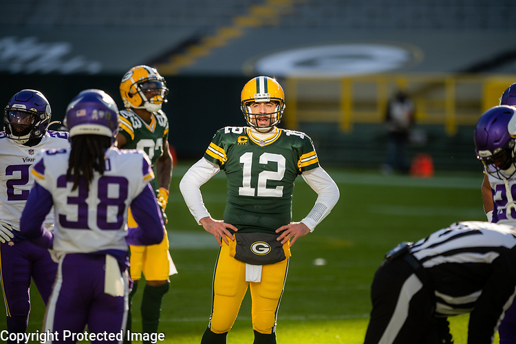 Green Bay Packers against the Minnesota Vikings during a regular season game at Lambeau Field in Green Bay on Sunday, November 1, 2020.