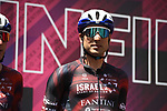 Davide Cimolai (ITA) Israel Start–Up Nation at sign on before the start of Stage 13 of the 2021 Giro d'Italia, running 198km from Ravenna to Verona, Italy. 21st May 2021.  <br /> Picture: LaPresse/Marco Alpozzi | Cyclefile<br /> <br /> All photos usage must carry mandatory copyright credit (© Cyclefile | LaPresse/Marco Alpozzi)