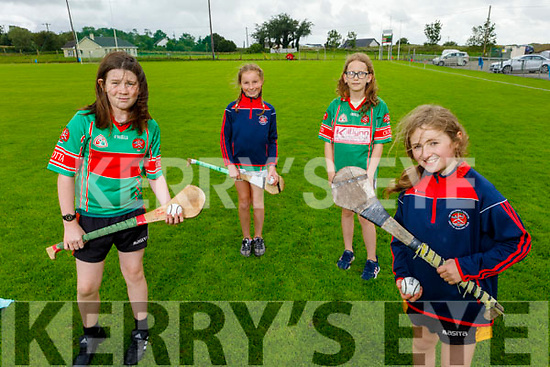 Crotta O'Neills camogie players get ready for the re opening of the field in Crotta. Front right: Sarah Breen.<br /> Back l to r: Emily O'Donoghue, Caoimhe Nolan and Laura Buckley.
