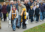 Hull City 3 Preston North End 0, 10/11/2007. KC Stadium, Championship. Hill City supporters make their way to the stadium. Photo by Paul Thompson. Hull finished 3rd and were promoted to the Premier League after beating Watford in the play semi final, and Bristol City in the final. Preston finished 15th.