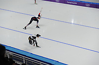 OLYMPIC GAMES: PYEONGCHANG: 18-02-2018, Gangneung Oval, Long Track, 500m Ladies, Karolina Erbanova (CZE), Nao Kodaira (JPN), ©photo Martin de Jong