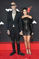 NEW YORK, NY- SEPTEMBER 12: Travis Barker and Kourtney Kardashian at the 2021 MTV Video Music Awards at Barclays Center on September 12, 2021 in Brooklyn,  New York City. <br /> CAP/MPI/JP<br /> ©JP/MPI/Capital Pictures
