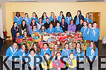 Torc Sy Mary Girls Guides, Lisivigeen Brownies and Lily Ladybirds who presented food hampers to the Killarney Lions club hamper appeal in the Church of the Ressurection hall on Friday night