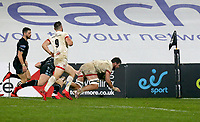 Monday 9th November 2020 | Ulster Rugby vs Glasgow Warriors<br /> <br /> Sean Reidy scores during the Guinness PRO14 Round 5 match between Ulster Rugby and Glasgow Warriors at Kingspan Stadium in Belfast, Northern Ireland. Photo by John Dickson / Dicksondigital