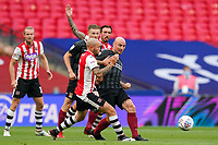 Nicky Law of Exeter City and Alan McCormack of Northampton Town during the Sky Bet League 2 PLAY-OFF Final match between Exeter City and Northampton Town at Wembley Stadium, London, England on 29 June 2020. Photo by Andy Rowland.