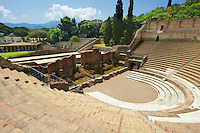 The Roman Great Theatre of Pompeii. Seating up to 5000 spectators the theatre was originally built in Hellanistic time (200-150 B.C)