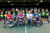 Rotterdam, The Netherlands, 14 Februari 2020, ABNAMRO World Tennis Tournament, Ahoy,   Wheelchair Doubles Final: Alfie Hewett (GBR and Gordon Reid (GBR) (L), Stephane Houdet (FRA) and Nicolas Peifer (FRA).<br /> Photo: www.tennisimages.com