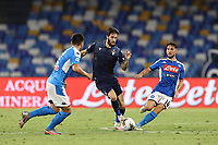 during the Serie A football match between SSC  Napoli and SS Lazio at stadio San Paolo in Naples ( Italy ), August 01st, 2020. Play resumes behind closed doors following the outbreak of the coronavirus disease. <br /> Photo Cesare Purini / Insidefoto