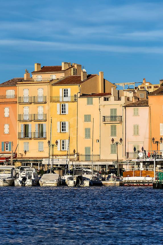 Saint-Tropez waterfront architecture, Provence, France