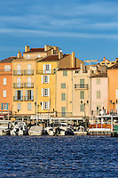 Saint-Tropez waterfront architecture, Provence, France