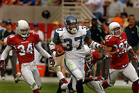 Nov. 6, 2005; Tempe, AZ, USA; Running back (37) Shaun Alexander of the Seattle Seahawks rushes the ball for an 88 yard touchdown run against the Arizona Cardinals at Sun Devil Stadium. Mandatory Credit: Mark J. Rebilas