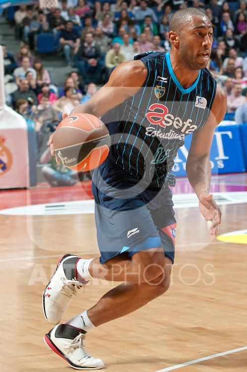 Asefa Estudiantes' Jayson Granger during Liga Endesa ACB match.April 22,2012. (ALTERPHOTOS/Ricky)