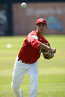July 11 2009: Ricardo Penalba of the Vancouver Canadians before game against the Boise Hawks at Nat Bailey Stadium in Vancouver,BC..Photo by Larry Goren/Four Seam Images