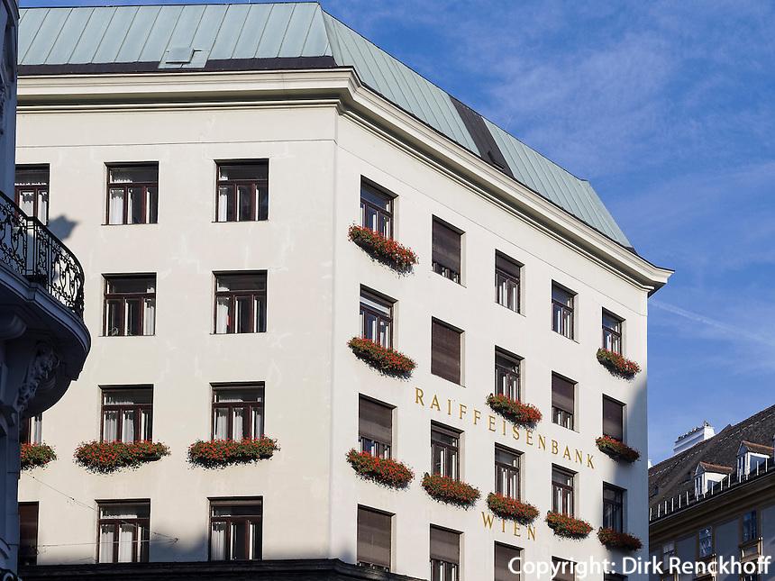 Raiffeisenbank im Looshaus,  Michaeler Platz 3, Wien, Österreich, UNESCO-Weltkulturerbe<br /> Raiffeisenbank in the Loos House, Michaeler Platz 3, Vienna, Austria, world heritage