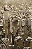 aerial photograph One World Trade Center,Manhattan, New York City