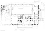 Pittsburgh PA:  An Ingham, Boyd, and Pratt drawing of the renovated first floor of Woodland Hall at the Pennsylvania College for Women's campus.  Ingham, Boyd, and Pratt Architect's various designs were submitted from 1948 through 1952 with construction starting in 1953. Pennsylvania College for Women was renamed Chatham College in 1955.