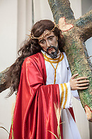 Antigua, Guatemala.  Sculpture of Jesus Carrying the Cross.  Church of San Jose (Cathedral of Santiago) (St. James).