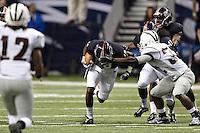 SAN ANTONIO, TX - SEPTEMBER 10, 2011: The McMurry University War Hawks vs. the University of Texas at San Antonio Roadrunners Football at the Alamodome. (Photo by Jeff Huehn)