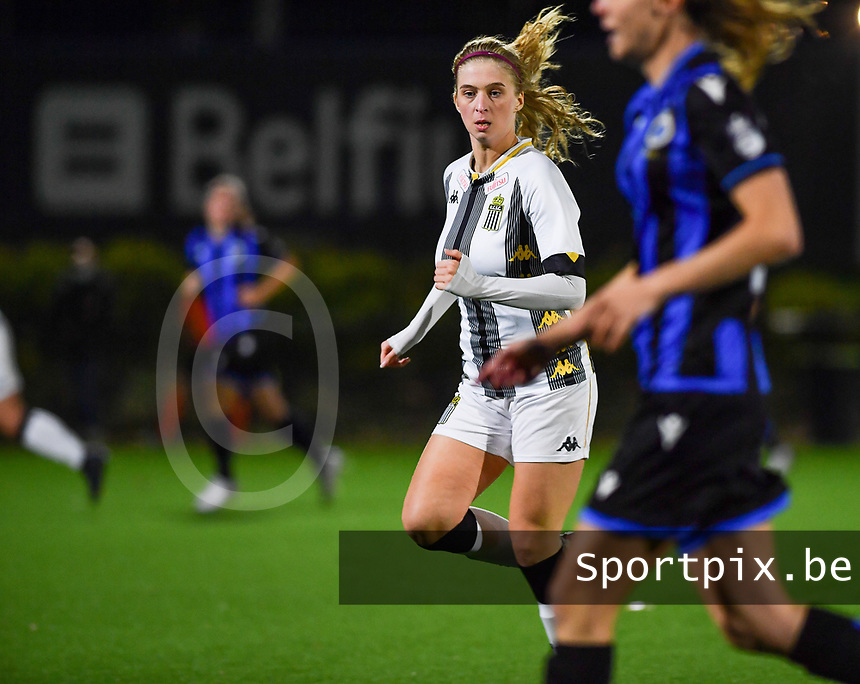 midfielder Ludmila Matavkova of Sporting Charleroi pictured during a female soccer game between Sporting Charleroi and Club Brugge YLA on the fourth matchday of the 2020 - 2021 season of Belgian Scooore Womens Super League , friday 9 nd of October 2020  in Marcinelle , Belgium . PHOTO SPORTPIX.BE | SPP | DAVID CATRY