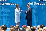 Ana Botella and the Transplantation National Organitation president Rafael Matesanz during the Medalla de Oro de Madrid (Madrid´s golden medal) awards ceremony at Madrid´s city hall. May 5, 2014. (ALTERPHOTOS/Victor Blanco)
