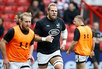 Photo: Richard Lane/Richard Lane Photography. Bristol Rugby v Wasps. Aviva Premiership. 16/04/2017. Wasps' James Haskell warms up.