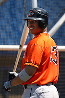 June 11th 2008:  Anthony Martinez of the Delmarva Shorebirds, Class-A affiliate of the Baltimore Orioles, during a game at Classic Park in Eastlake, OH.  Photo by:  Mike Janes/Four Seam Images