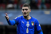 Marco Verratti of Italy during the Uefa Nations League semi-final football match between Italy and Spain at San Siro stadium in Milano (Italy), October 6th, 2021. Photo Andrea Staccioli / Insidefoto