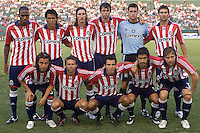 Chivas USA starting eleven. Pachuca CF defeated Chivas USA 2-1 during the 1st round of the 2008 SuperLiga at Home Depot Center stadium, in Carson, California on Sunday, July 13, 2008.