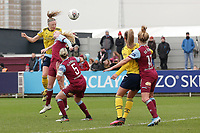 Louise Quinn of Arsenal goes close during West Ham United Women vs Arsenal Women, Women's FA Cup Football at Rush Green Stadium on 26th January 2020