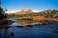 Sedona Arizona<br /> Sedona is located in the Upper Sonoran Desert of Northern Arizona approximately 90 minutes north of Phoenix, Arizona.  Canyons, creeks, mountains, forests, spiritual vortexes, hikes and mountain biking trails surround the area. Sedona's main attraction is its stunning array of red sandstone formations, the Red Rocks of Sedona which include red-rock monoliths named Coffeepot, Cathedral Rock and Thunder Mountain as well as Red Rock Crossing and Oak Creek Canyon. The formations appear to glow in brilliant orange and red when illuminated by the rising or setting sun. The Red Rocks form a breathtaking backdrop for everything from spiritual pursuits to the hundreds of hiking and mountain biking trails.