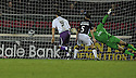 03/01/2009  Copyright Pic: James Stewart.File Name : sct_jspa10_falkirk_v_kilmarnock.DAVID FERNANDEZ HEADER GOES OVER THE LINE.James Stewart Photo Agency 19 Carronlea Drive, Falkirk. FK2 8DN      Vat Reg No. 607 6932 25.Studio      : +44 (0)1324 611191 .Mobile      : +44 (0)7721 416997.E-mail  :  jim@jspa.co.uk.If you require further information then contact Jim Stewart on any of the numbers above.........