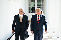 President Donald J. Trump walks along the West Wing Colonnade with Australian Prime Minister Scott Morrison Friday, Sept. 20, 2019, on their way to the Oval Office of the White House. (Official White House Photo by Shealah Craighead)