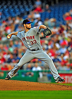 6 June 2009: New York Mets' starting pitcher John Maine in action against the Washington Nationals at Nationals Park in Washington, DC. The Mets fell to the Nationals 7-1 as Nats' starting pitcher John Lannan tossed his first career complete-game win. Mandatory Credit: Ed Wolfstein Photo