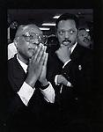 old bw portfolio Rodney King civil verdicts in South Central LA with Jessie Jackson at