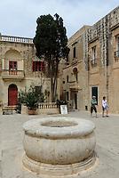 Innenhof vom Corte Capitanale in Mdina, Malta, Europa