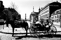1975 File Photo - spring in Old-Montreal's Place Jacques-Cartier.<br /> <br /> NO MODEL RELEASE