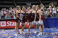 10 March 2008: Stanford Cardinal Dollies during Stanford's 56-35 win against the California Golden Bears in the 2008 State Farm Pac-10 Women's Basketball championship game at HP Pavilion in San Jose, CA.