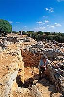 Spanien, Mallorca, Talayot-Siedlung Capocorp Vell, 1.400-1000 vor Christus