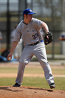 March 15, 2010:  Pitcher Sean Scanlon of the Roger Williams University Hawks in a game vs Fontbonne University at Lake Myrtle Park in Auburndale, FL.  Photo By Mike Janes/Four Seam Images