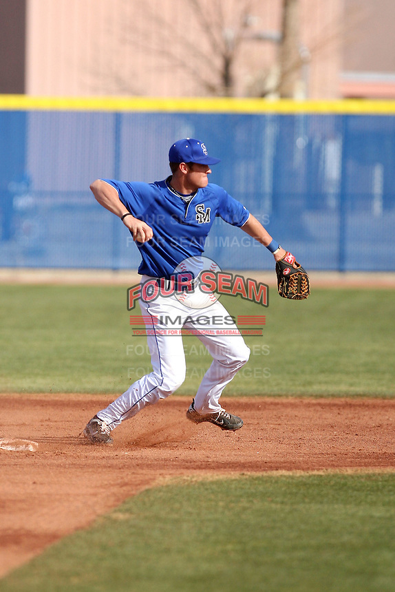 Trey Ford, South Mountain Community College Cougars, in action against the  College of Southern Idaho Eagles at South Mountain CC, Phoenix, AZ - 02/06/2011.Photo by:  Bill Mitchell/Four Seam Images.