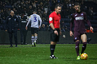Josh Earl of Preston North End leaves the pitch after being shown a red card during the Sky Bet Championship match between Preston North End and Swansea City at Deepdale, Preston, England, UK. Saturday 12 January 2019