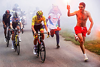 14th July 2021, Muret, France;  POGACAR Tadej (SLO) of UAE TEAM EMIRATES victory during stage 17 of the 108th edition of the 2021 Tour de France cycling race, a stage of 178,4 kms between Muret and Saint-Lary-Soulan.