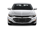 Car photography straight front view of a 2020 Chevrolet Malibu LT 4 Door Sedan